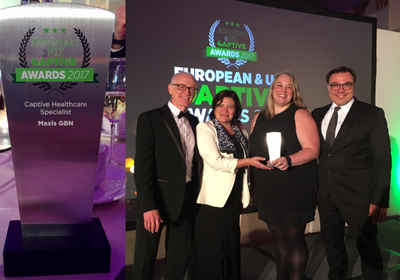 A fantastic win for MAXIS GBN at the European & UK Captive Awards last night